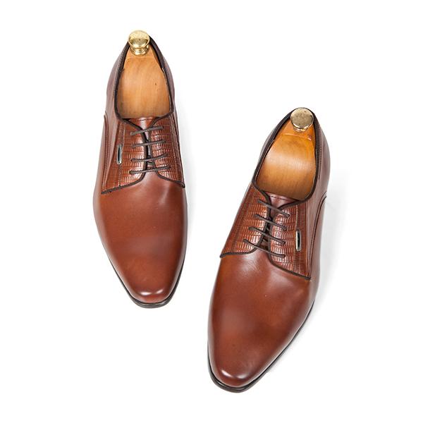 Giày tăng chiều cao nam nhập khẩu SC61(7cm) màu nâu sang trọng